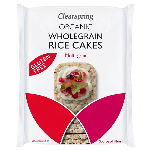 Clearspring Organic Rice Cakes Multigrain Squares (130g)