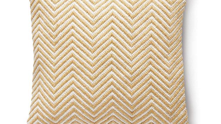 Hug Rug Woven Herringbone Cushion (Gold)
