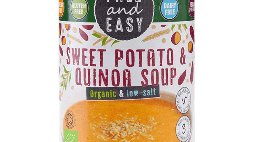 Free & Easy Organic Sweet Potato & Quinoa Soup - low salt