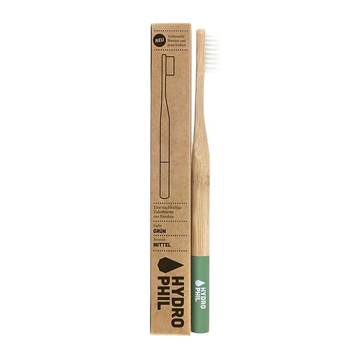 Bamboo Toothbrush With Medium Bristles – Green