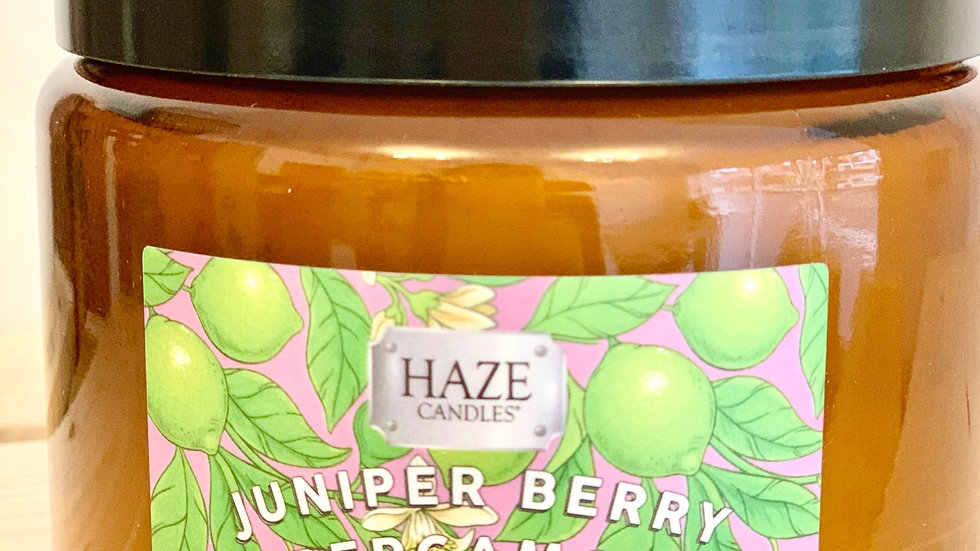 Essence Collection Juniper Berry & Bergamot Double Wick Candle