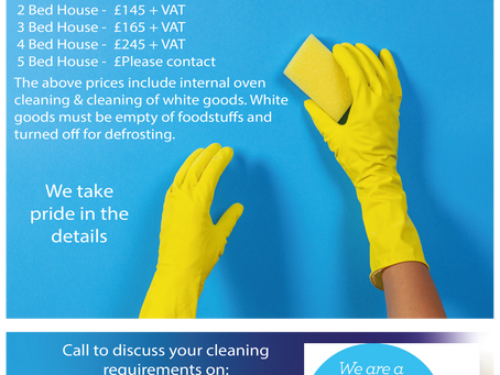 End of Tenancy Cleaning Price List!
