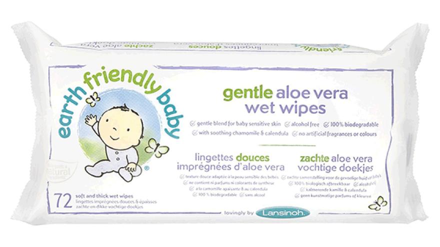 Earth Friendly Baby Gentle Aloe Vera Wipes