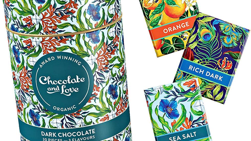 Chocolate & Love Dark Chocolate Tin (165g)