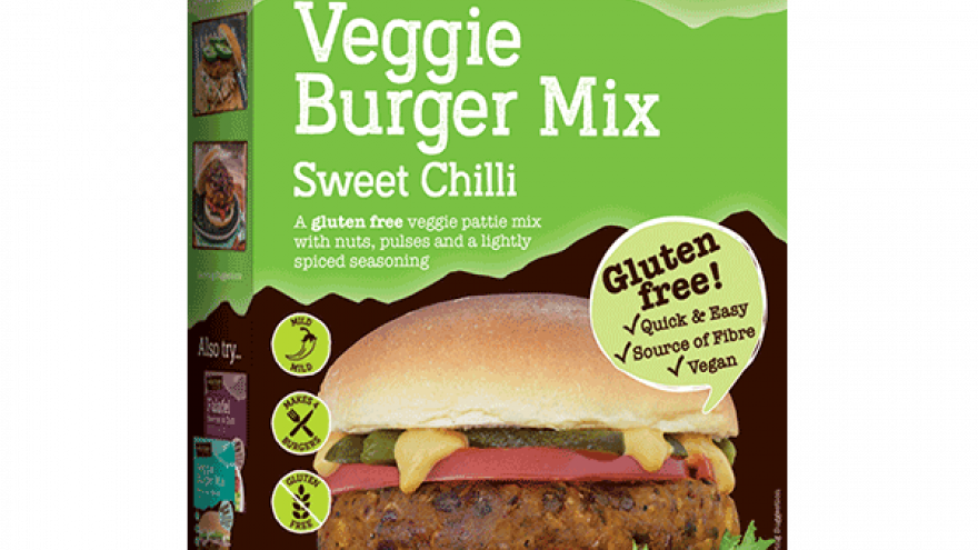 Veggie Burger Mix - Sweet Chilli - Gluten-free