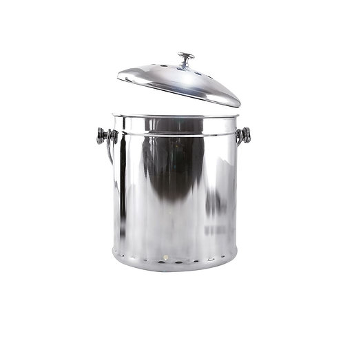DELUXE COMPOST PAIL STAINLESS STEEL
