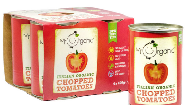 Mr Organic Chopped Tomatoes (Four Pack)