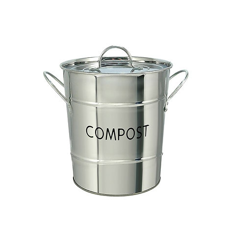 Compost Pail - Stainless Steel