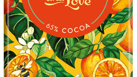 Chocolate & Love Organic & Fairtrade Orange 65% Dark Chocolate Bar 80G