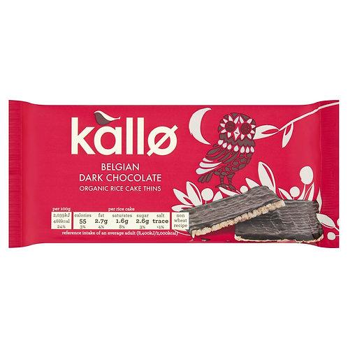Kallo Organic Dark Chocolate Rice Cake Thins (90g)