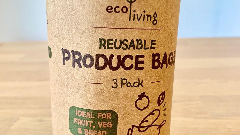 Organic Produce Bags & Bread Bag