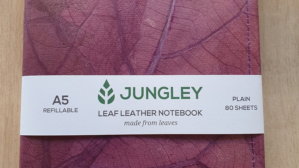 A5 Refillable Leaf Leather Journal