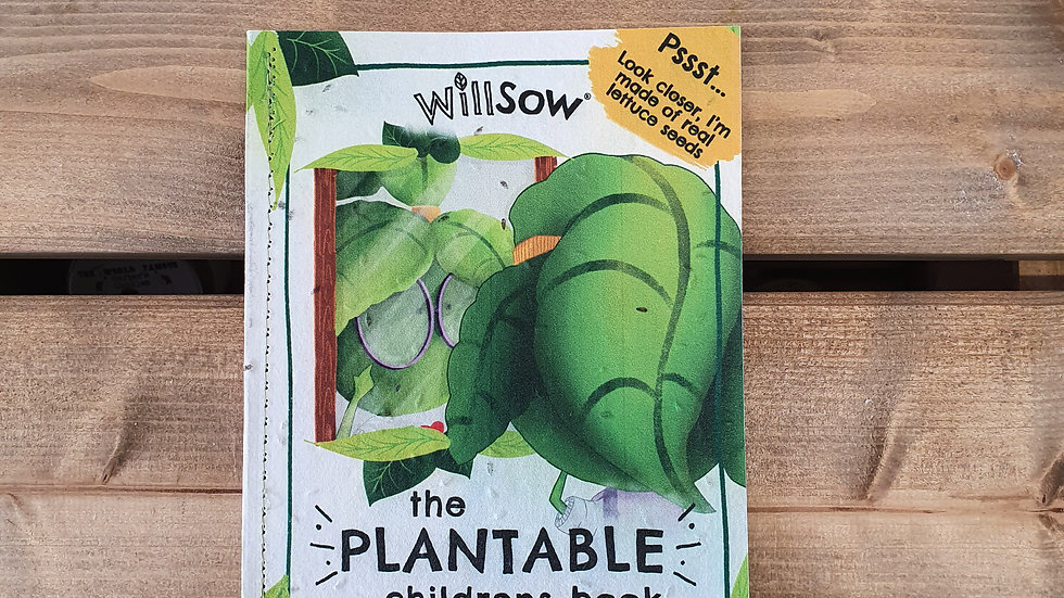 The Plantable Childrens Book - The Lettuce Who Wanted A New Look