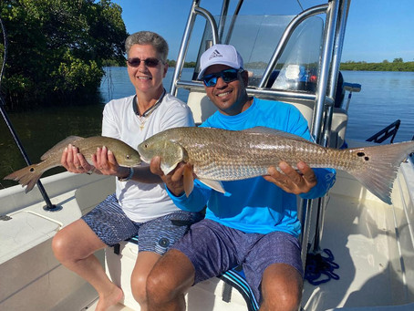 Tampa Bay Fishing Charters With Good Friends Kim and Alex