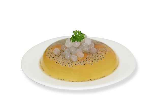 Fresh Lime Plum Jelly with Boba Pearl 天然金吉甘梅茶果冻寒天