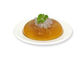 Fresh Osmanthus Fruit Agar with Boba Pearl  天然桂花果冻寒天