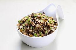 Sesame Oil Mushroom Oat Rice 麻油香菇燕麦饭