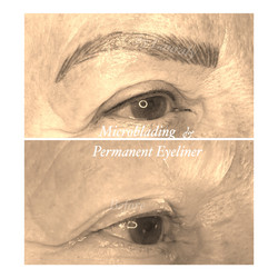 Microblading and Eyeliner