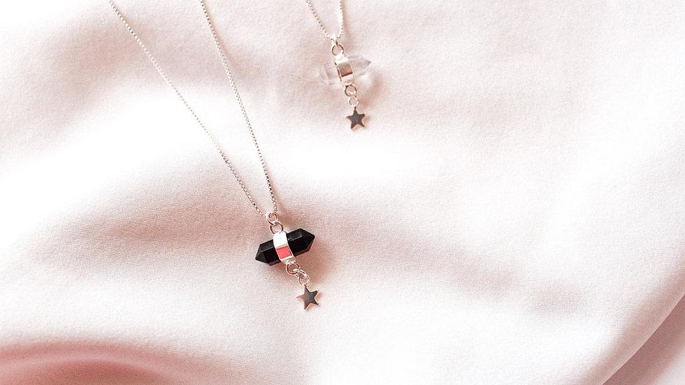 Amuleto piedra ónix silver star