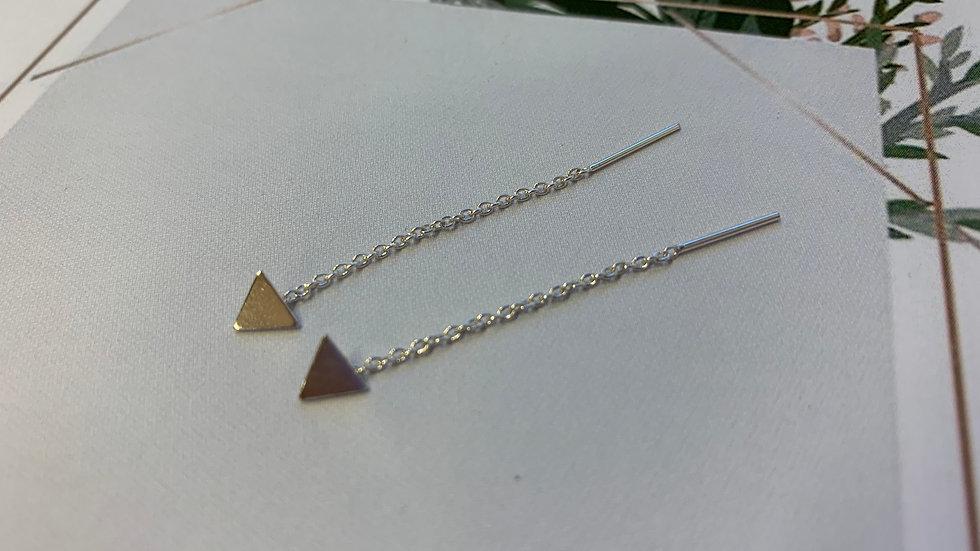 Aros colgantes triangulo