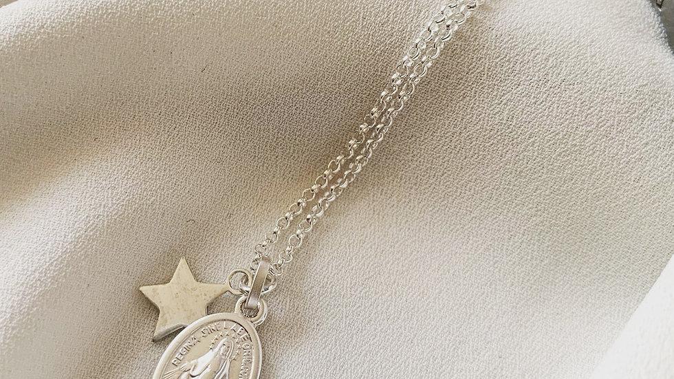 Virgen de los rayos con Estrella de protección