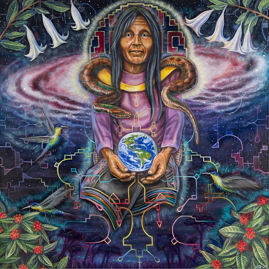 "1 EARTH NATION PRINT - ""HEAL YOURSELF, HEAL THE WORLD"""