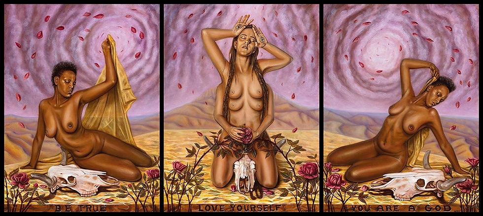 Goddess Triptych Print