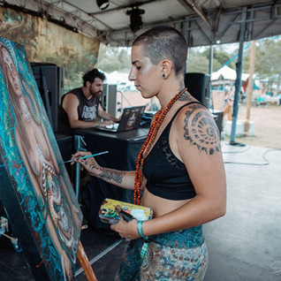 Live painting @ Earth Frequency