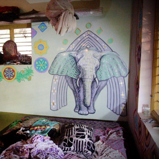 """Elephant Temple""Full Room Installation"