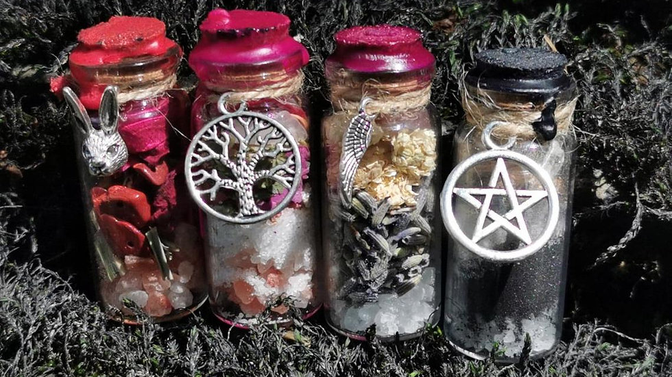Beautiful Handcrafted Spell Bottles