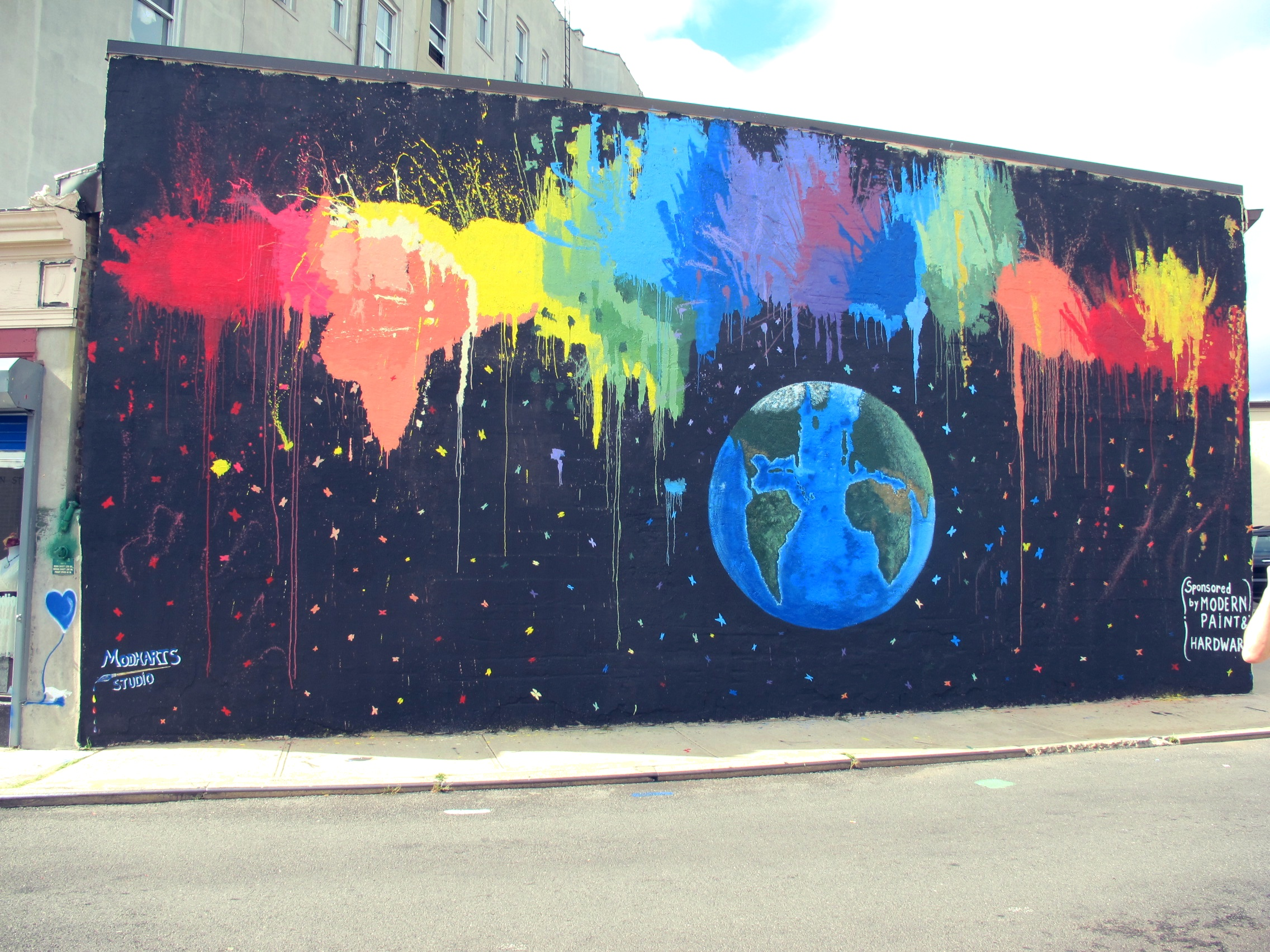 Street Mural Earth in Color