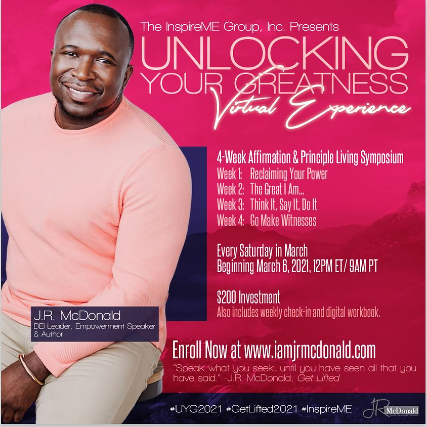 Unlocking Your Greatness - Virtual Experience