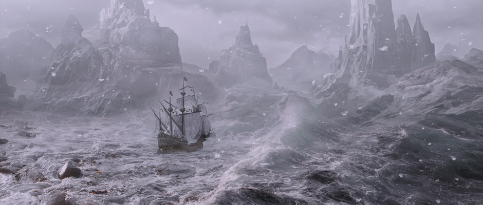At the same time, far across The Wash in The Highlands, the powers of darkness are being used to raise a huge tempest to drown King Buchan's bride to be, Princess Nin of The Icelands, as she sails towards  her wedding ceremony.