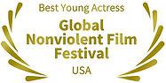 Mejor actriz joven Global Nonviolent Film Festival