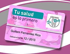 tarjeta cliente clinica dental ruiz