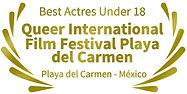 Mejor actriz menor de 18 años Queer International Film Festival Playa del Carmen