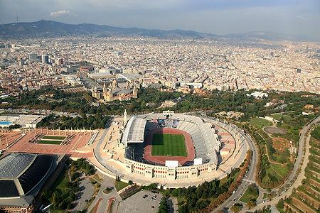 fotografia aèria estadi olímpic montjuïc