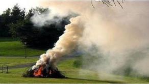 Avar & kerti hulladék égetése