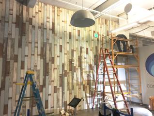 Wood looking wallpaper