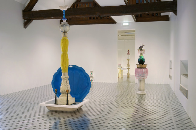 Exposition «Tuileries» / salles des fontaines «Les Divines» / à l'Académie (le SHED), à Maromme, septembre 2019.