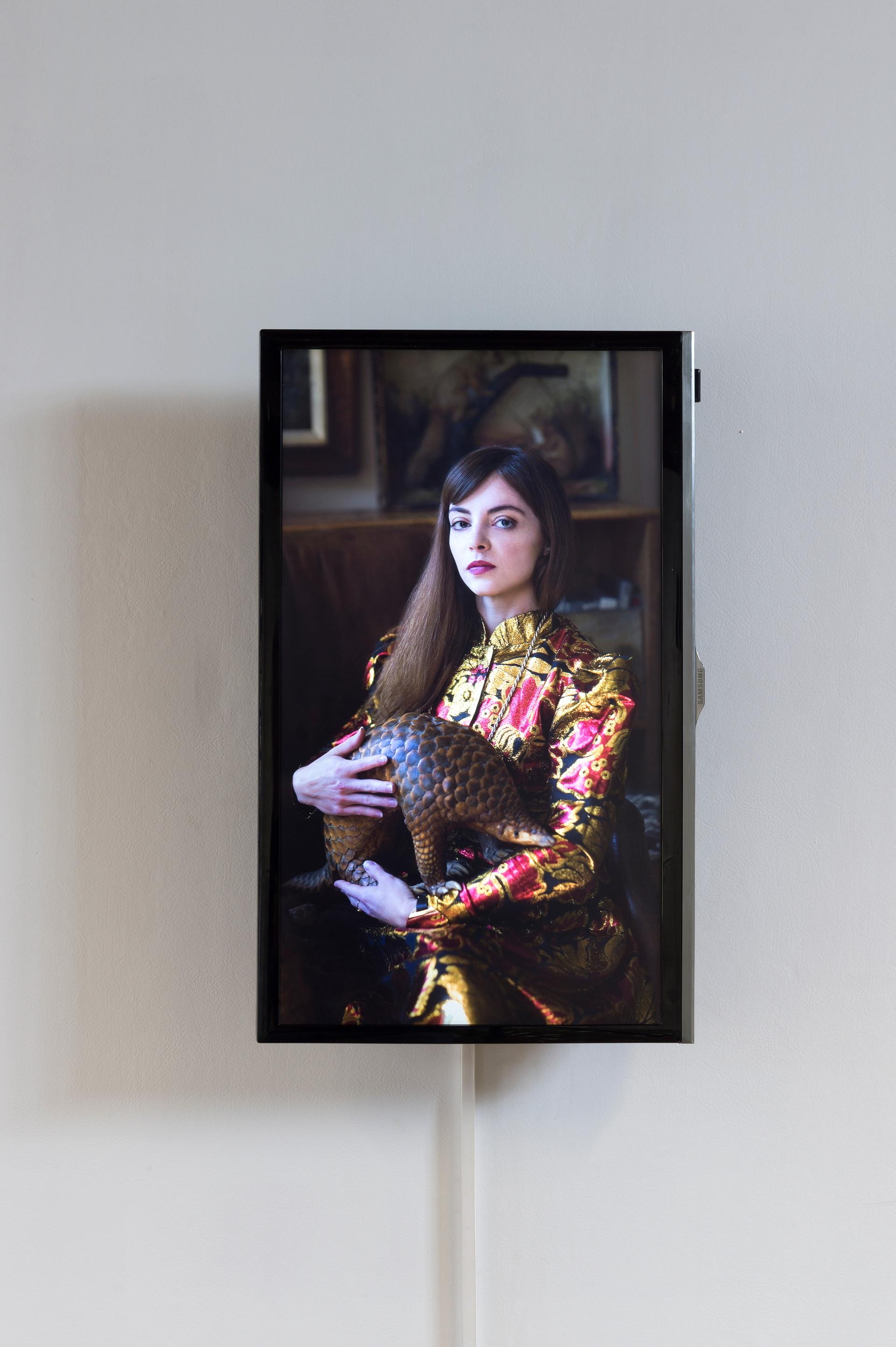 Wanted / portrait numérique de l'artiste / à L'Académie, à Maromme, septembre 2019. © Marc Domage Prise de vue : Lola Rossi