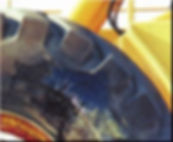 As the close- up photograph shows, this tyre has suffered deep damage due to heavy impact.  ​ This off road vehicle was used in an industrial facility that was operational twenty four hours a day, seven days a week. Due to the replacement cost for a new tyre and the length of downtime required, the company wanted to undertake a high performance repair instead.