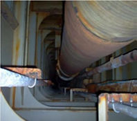 Pipe repair using UPS 19000 RH & UPS 19007 GT 50M GLASS TAPE