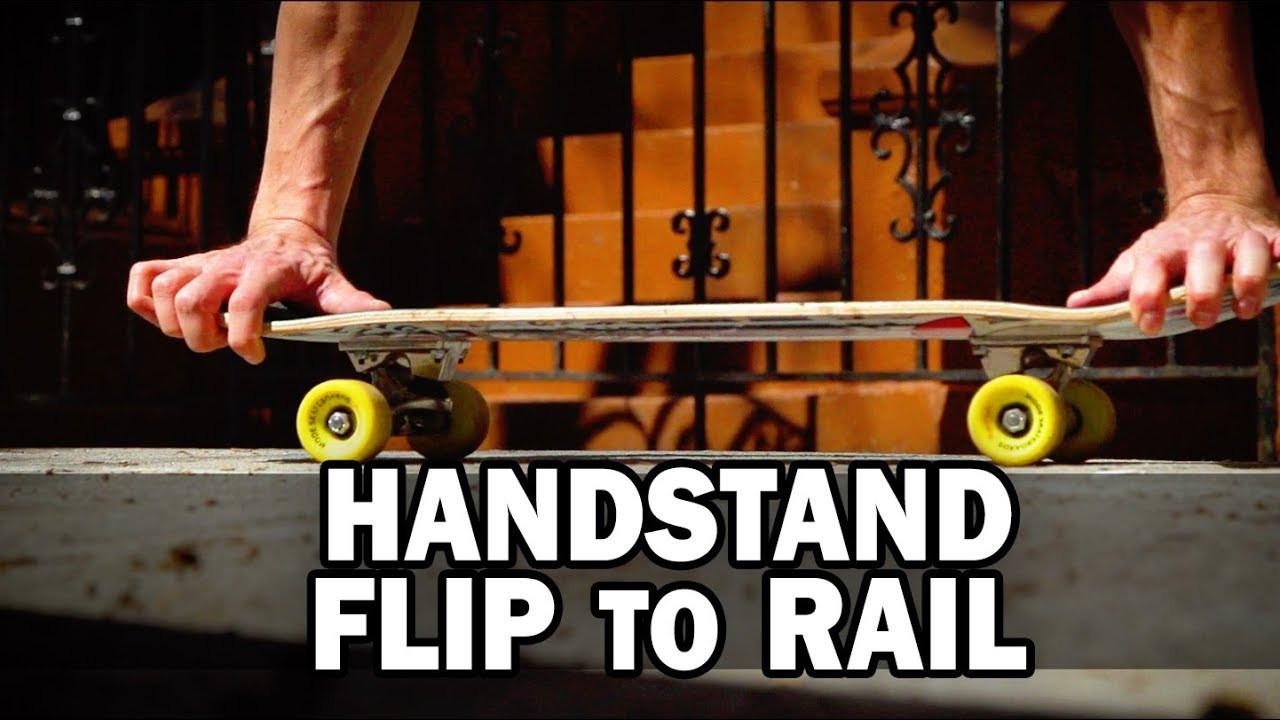 Handstand Flip to Rail: Kyle Matthew Hamilton