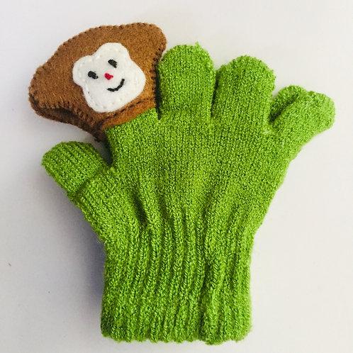 Monkey puppet gloves