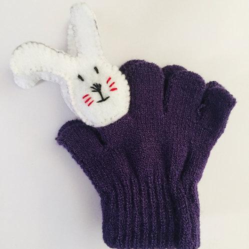 Rabbit puppet gloves