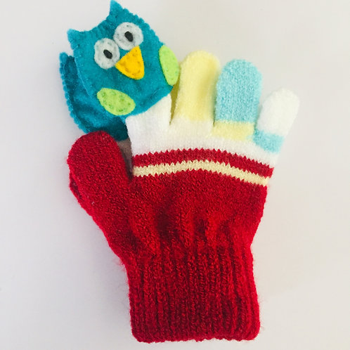 Owl puppet gloves