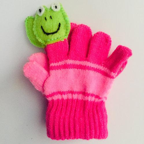 Frog puppet gloves