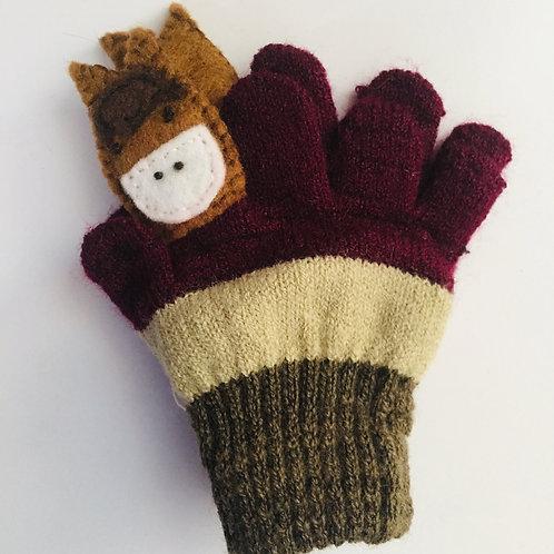 Horse puppet gloves