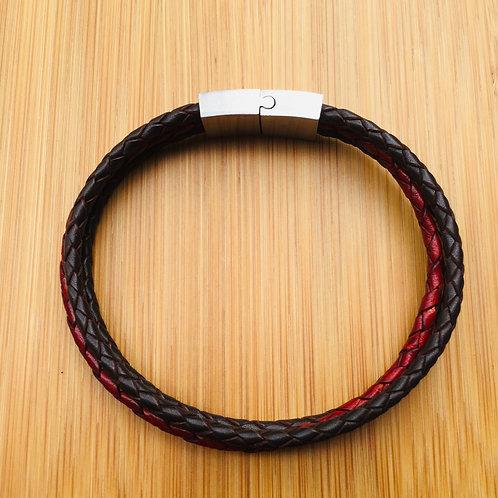 Three cords one round braided